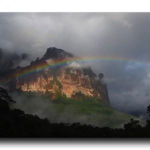 ギアナ高地で出会った虹と風立ちぬ。