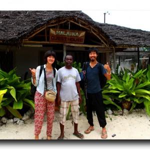 アフリカの楽園でだいごろが魚と友達になりました。笑