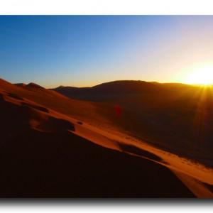 ナミビアの燃える砂漠にさようなら。そして再び南米へ。