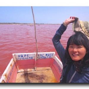 ピンクピンクピンク!!セネガルで見た奇跡の絶景!!ピンクの湖ラックローズ!!